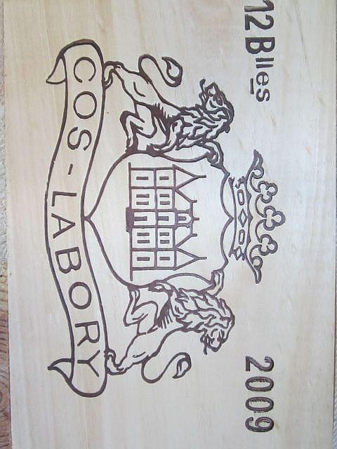 12 bouteilles CHÂTEAU COS LABORY 2009 5è GC Saint Estèphe Caisse bois d'origine