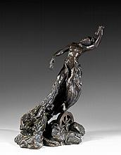 Camille CLAUDEL (Fère-en-Tardenois, 1864 - Montdevergues, 1943) LA FORTUNE, 1905 Bronze à patine noire
