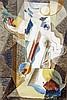 André MASSON (Balagny-sur-Thérain,1896 - Paris, 1987) JEUNE FILLE A LA FENETRE, 1926 Huile sur toile