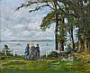 Eugène BOUDIN (Honfleur, 1824 - Deauville,1898) HONFLEUR, LA CÔTE DE GRÂCE, 1890 Huile sur panneau