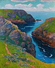 Henry MORET (Cherbourg, 1856 - Paris, 1913) BELLE-ILE, 1898 Huile sur toile