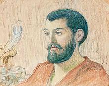 Claude-Emile SCHUFFENECKER ( Fresne-Saint-Mamès, 1851 - Paris, 1934) PORTRAIT DE JULES BOIS, circa 1894 Pastel sur papier