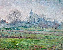 Henri LEBASQUE (Champigné, 1865 -Le Cannet,1937) PAYSAGE Huile sur toile