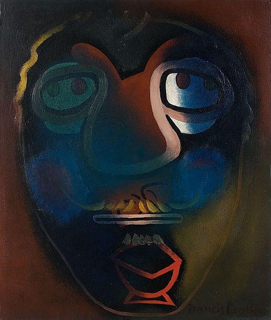 Francis PICABIA (Paris, 1879 - Paris, 1953) SANS TITRE, circa 1945 Huile sur papier marouflé sur carton