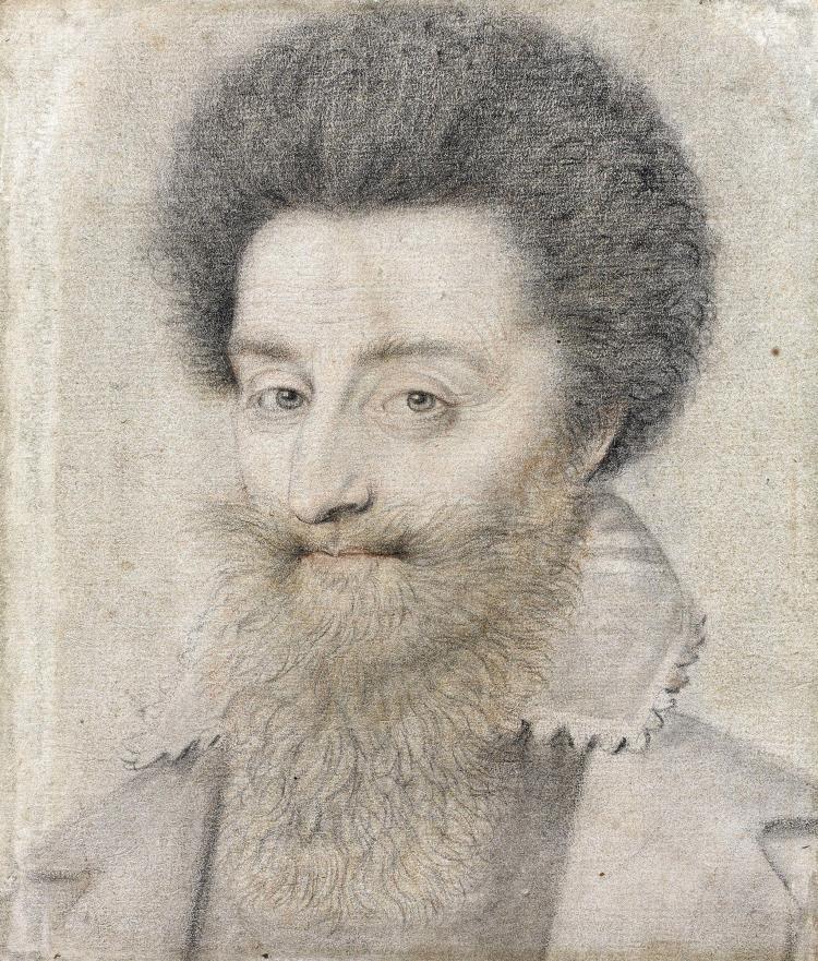 Nicolas Lagneau vers 1590 - vers 1660 Portrait d'homme Crayon noir, estompe, sanguine et crayon jaune