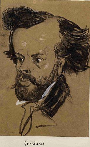 Gaspard Félix Tournachon, dit Nadar Paris, 1820 - 1910 Evariste Luminais (1822-1896) Fusain, estompe et rehauts de gouache blanche