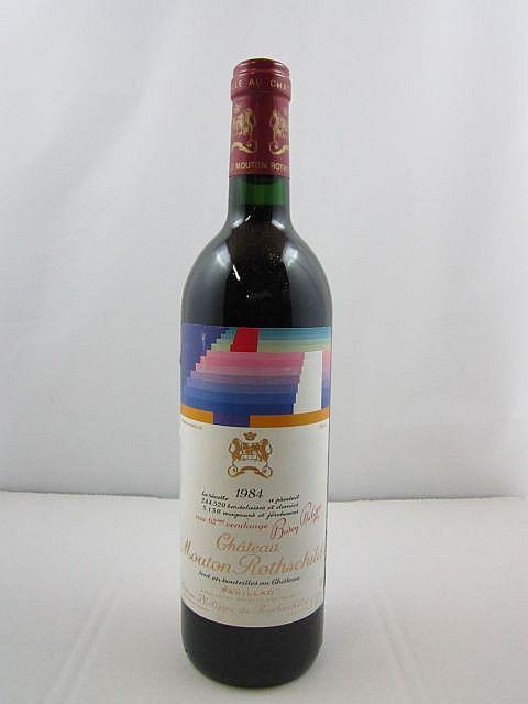 1 bouteille CHÂTEAU MOUTON ROTHSCHILD 1984 1er GC Pauillac