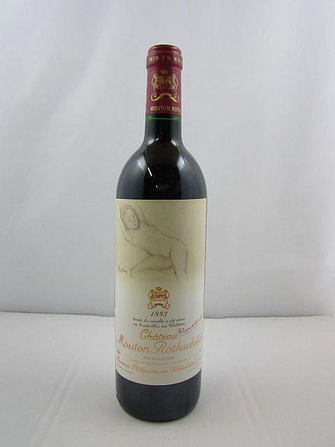 1 bouteille CHÂTEAU MOUTON ROTHSCHILD 1993 1er GC Pauillac