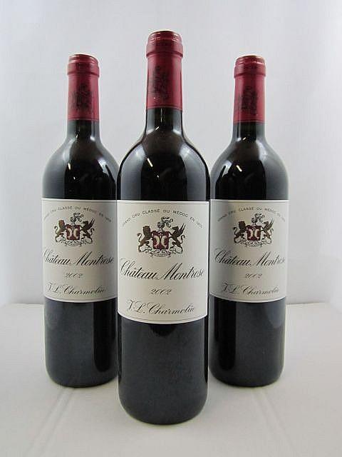 6 bouteilles CHÂTEAU MONTROSE 2002 2è GC Saint Estèphe