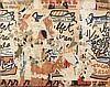 Raymond HAINS (1926-2005) DUBUFFET AU GRAND-PALAIS, 1973 Affiches lacérées marouflées sur toile