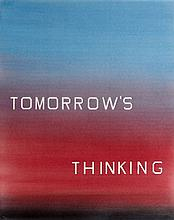 Ed RUSCHA (né en 1937) TOMORROW'S THINKING, 1983 Projection d'encre et pigments sur papier