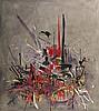 Georges MATHIEU (1921-2012) MASSACRE DE LOUYS DE BOURBON, EVEQUE DE LIEGE, 1957 Huile sur toile