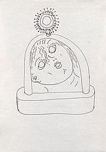 Ettore SOTTSASS (1917 - 2007) Suite de trois dessins - 1989 Plume et crayon de couleur sur papier