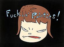 Yoshitomo NARA Né en 1959 FUCKIN' POLITICS! - 2003 Lithographie offset