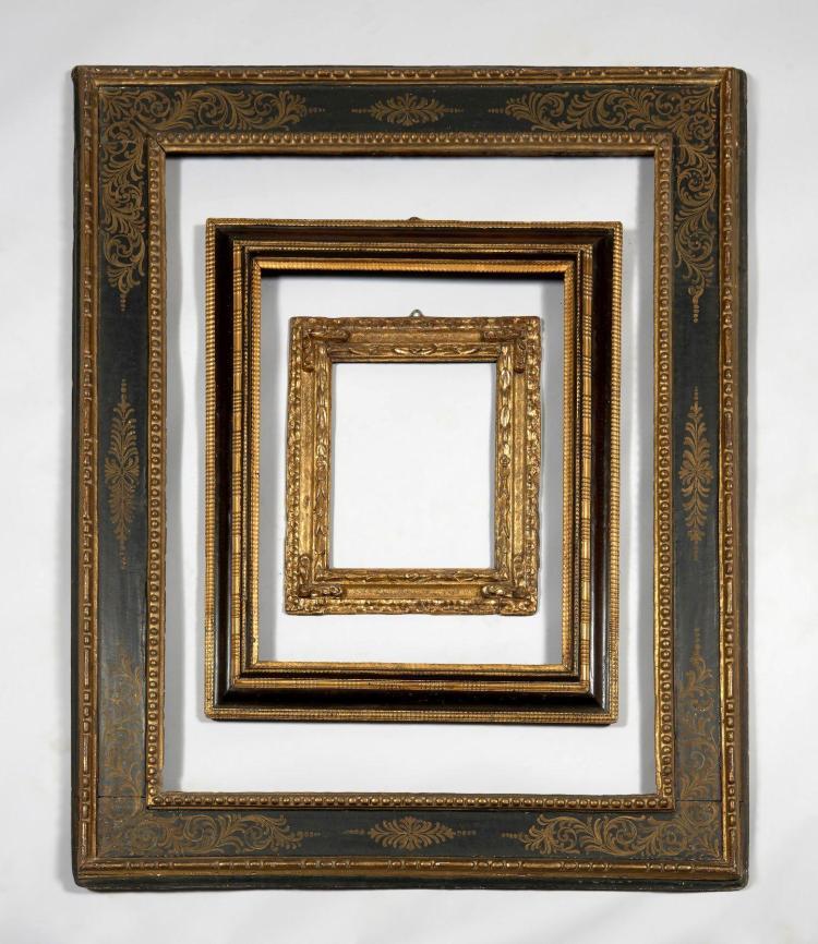 Italie du nord xviie si cle cadre en bois moulur teint e for Baguettes bois decoratives
