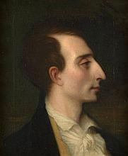 Ernest Hebert Grenoble, 1817 - La Tronche, 1908 Portrait du musicien Louis-Joseph-Ferdinand Hérold de profil Huile sur toile (Toile...