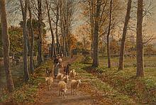 François-Marie Firmin Girard, dit Firmin-Girard Poncin, 1838 - Montluçon, 1921 Matinée d'automne, environs de Loches Huile sur toile