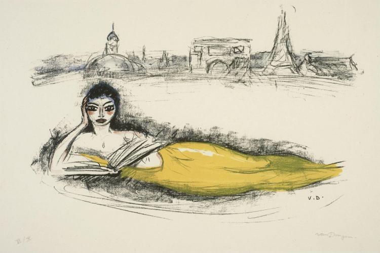 Kees VAN DONGEN (1877 - 1968) De seine - 1962