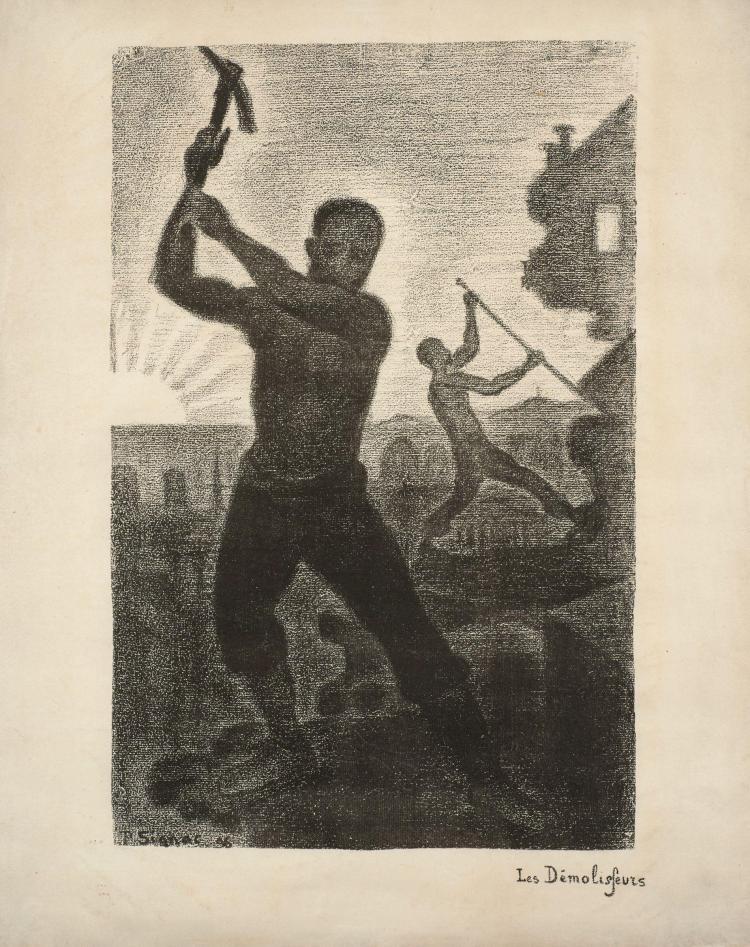 Paul SIGNAC (1863- 1935) Les Démolisseurs - 1896