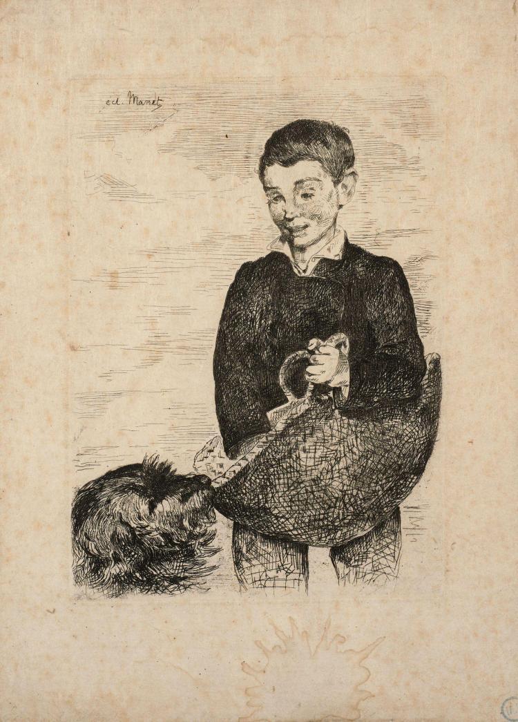 Edouard MANET (Paris, 1832 - Paris, 1883) Le gamin au chien - 1862