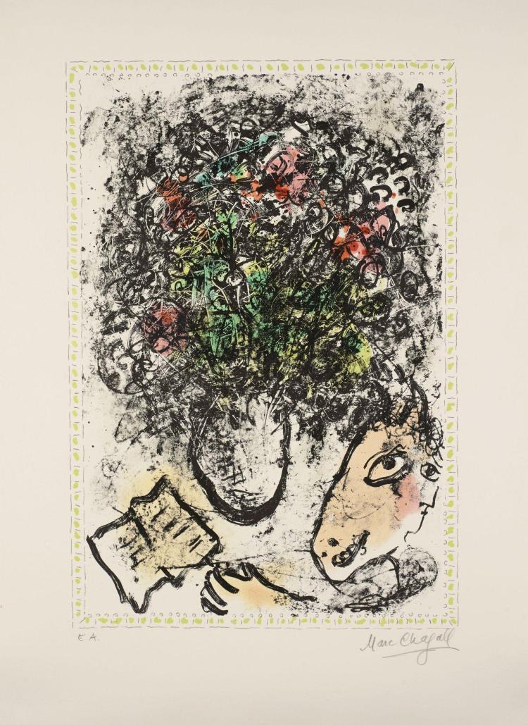 Marc CHAGALL (1887 - 1985) Fleurs d'art, juin 1983 - 1983
