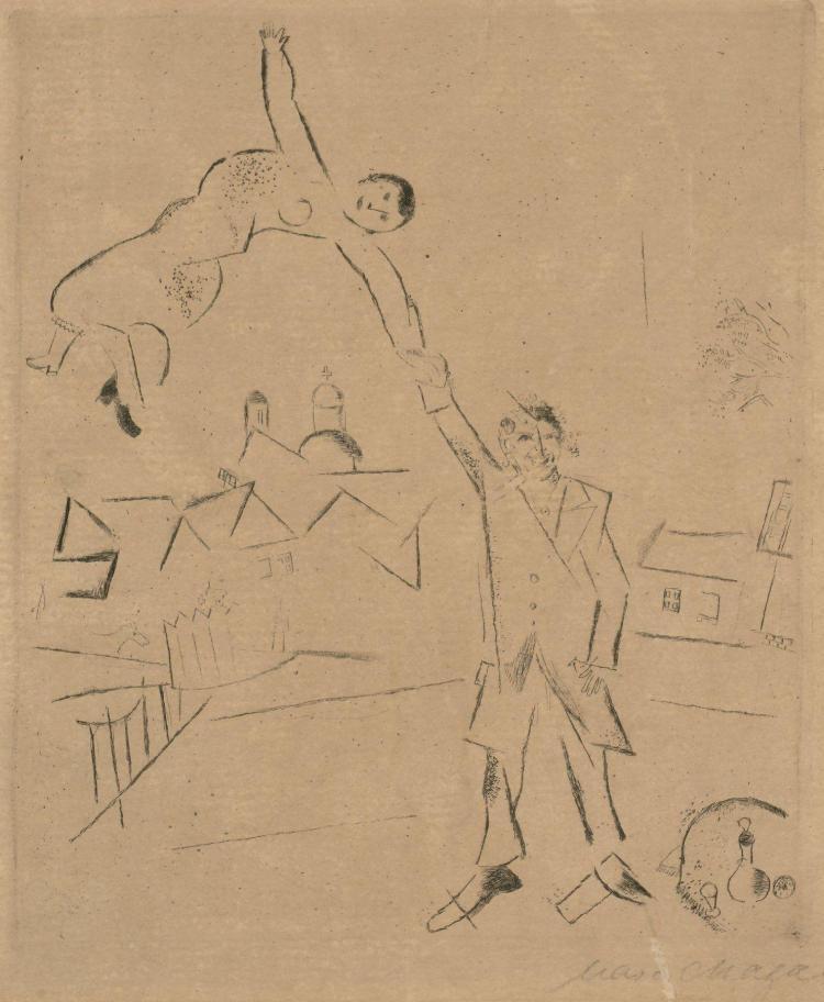 Marc CHAGALL 1887 - 1985 Der Spaziergang II - 1922