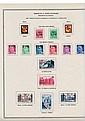 Réunion - Collection de timbres-poste de France surchargés CFA, neufs, montée sur feuilles d'album.
