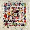 Sam FRANCIS (1923-1994) COMPOSITION, (MANDALA), 1975 Acrylique sur papier