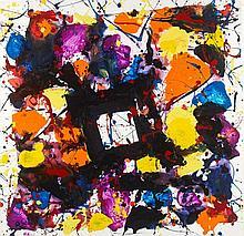 Sam FRANCIS (1923-1994) COMPOSITION, 1983 Acrylique sur papier