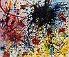 Sam FRANCIS (1923-1994) COMPOSITION, 1989 Acrylique sur papier