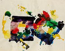 Sam FRANCIS (1923-1994) COMPOSITION Acrylique sur papier