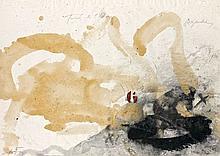 Antoni TAPIES (1923 - 2012) TURO DE L'HOMME Technique mixte sur papier