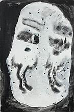 Henri MICHAUX (Namur, 1899- Paris, 1984) COMPOSITION, 1982 Acrylique sur toile marouflée sur carton