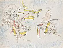 Roberto MATTA (1911-2002) REVOLUTION FRANCAISE (HOMO-FLUX n°389), 1972 Pastels de couleurs et crayon sur papier