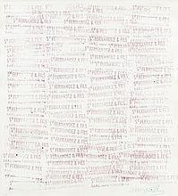ARMAN (1928-2005) CACHET DOCUMENT, (STE FERNANDEZ & FILS ), 1954 Cachet d'encre de couleur rouge sur papier