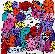 SONI IRAWAN (Né en 1975) SANS TITRE - 2015 Acrylique et marqueur sur toile