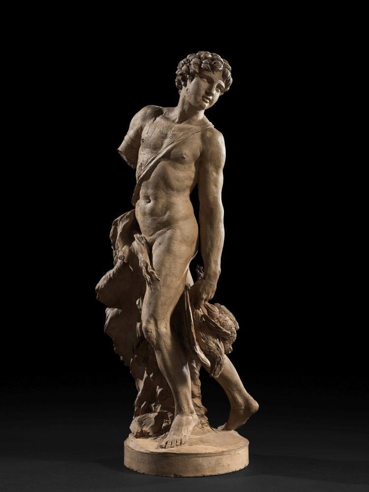 Claude Michel dit Clodion Nancy, 1738 - Paris, 1814 Le Chasseur Terre cuite