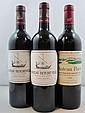3 bouteilles 1 bt : CHÂTEAU PAVIE 1998 1er GCC (B) Saint Emilion