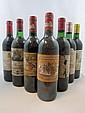 7 bouteilles 1 bt : CHÂTEAU DUCRU BEAUCAILLOU 1989 2è GC Saint Julien (étiquette abimée)
