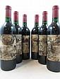 6 bouteilles CHÂTEAU AUSONE 1985 1er GCC (A) Saint Emilion (étiquettes très abimées par l'humidité)