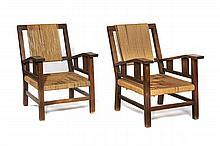 Francis JOURDAIN  Paire de fauteuils