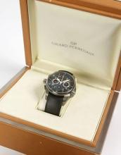 GIRARD PERREGAUX BMW ORACLE RACING, n° 386/750, vers 2007 Rare et beau chronographe bracelet en titane. Boîtier rond. Cadran noi...