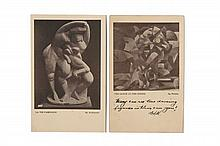Francis PICABIA - Alexander ARCHIPENKO  2 cartes postales pour Armory Show, New York.