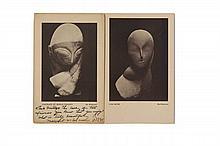 Constantin BRANCUSI  2 cartes postales pour Armory Show, New York.