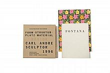 WARHOL, FONTANA, CARL ANDRE  Ensemble de 3 catalogues
