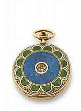 BOUCHERON PARIS MOSCOU n°289032 vers 1910 Superbe et rarissime montre de poche savonnette ajourée