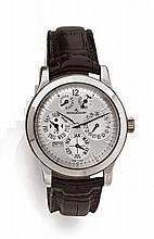 JAEGER LECOULTRE QUANTIEME PERPETUEL MASTER 8 DAYS N°004/200 vers 2005 Rare et belle montre bracelet à quantième perpétuel en pl...