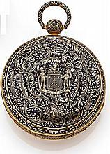 GOUNOUILHOU & FRANCOIS à GENEVE N° 16178 début 1800 Très rare et grande montre de poche à sonnerie au passage et à la demande en...