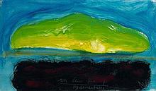 Jean MESSAGIER (1920 - 1999) UN BEAU PRINTEMPS/HYDROCARBURES - 1973 Acrylique sur toile