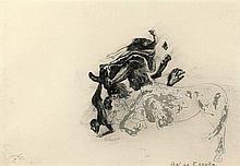 Jorge CASTILLO (Né en 1933) ENSEMBLE DE 3 OEUVRES SUR PAPIER 36,7 x 37,5 cm